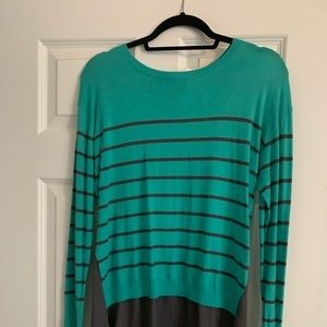 Nordstrom Halogen Teal/Gray Button Back Sweater